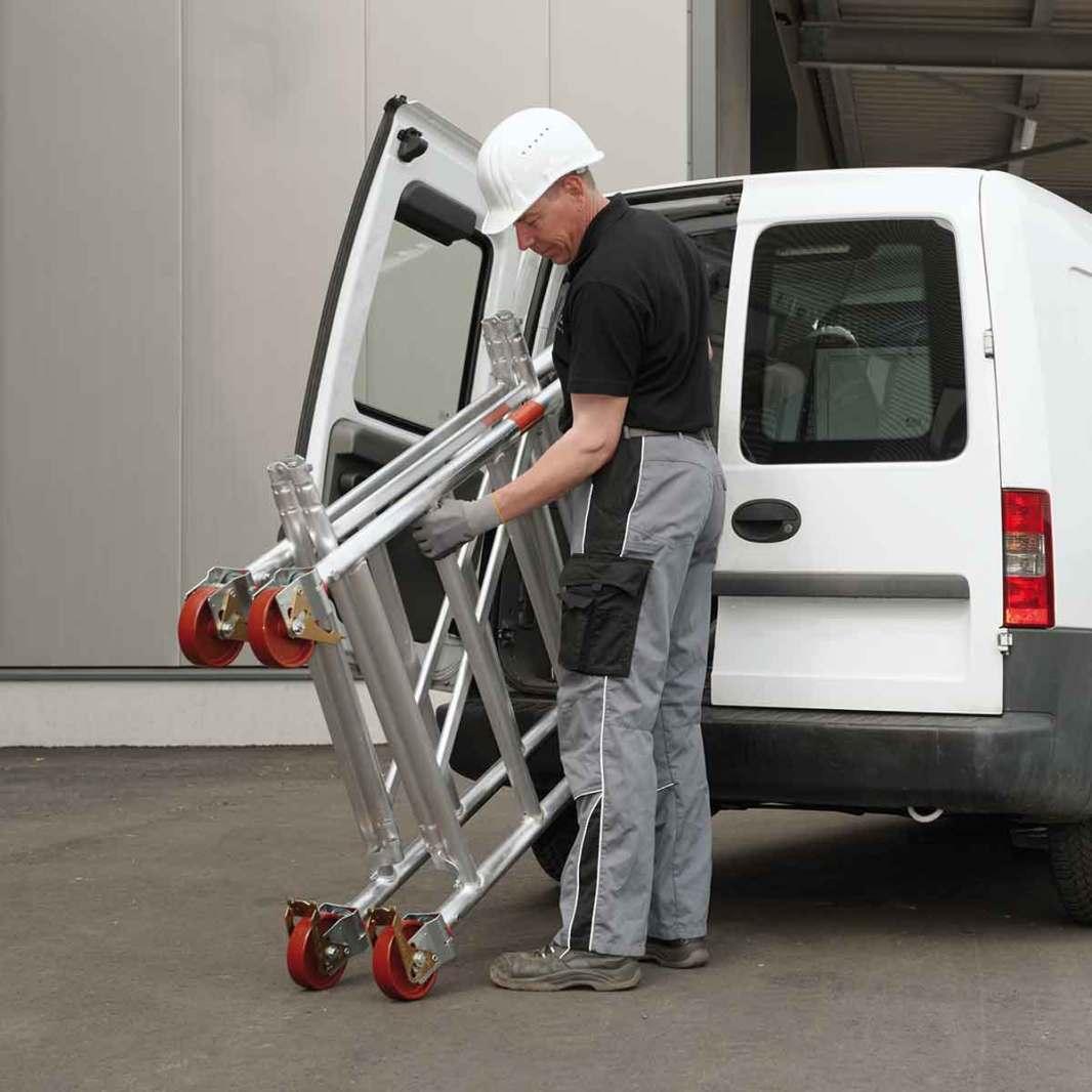 Folding Zifa scaffold tower for easy transportation