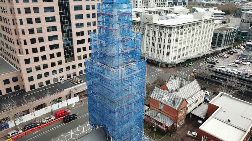 Scaffolding Cathedral Spire by Upright Access Systems