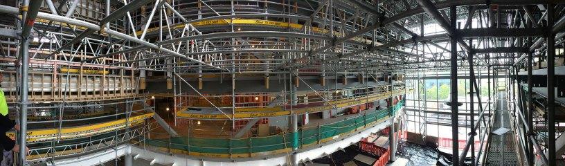 Elliott Scaffolding used Layher Allround Scaffolding and Layher 750 Aluminium Beams on the Canterbury University building