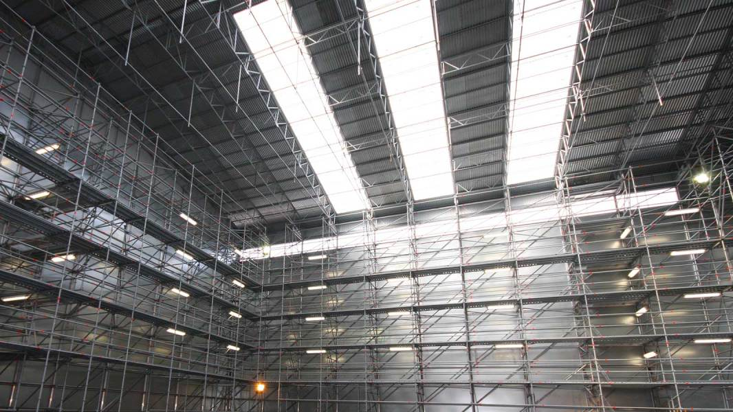 Durable weather protection with Layher Steel Cassette Roof