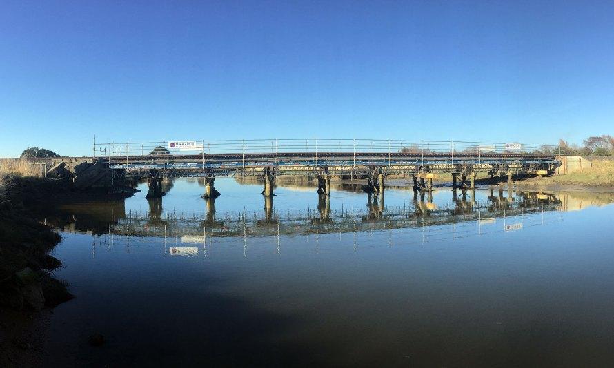 Waihopai Rail Bridge by Brazier Scaffolding