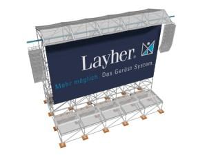 Descuelgue sonido videowall Layher