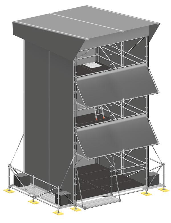 Simulación de torre FOH