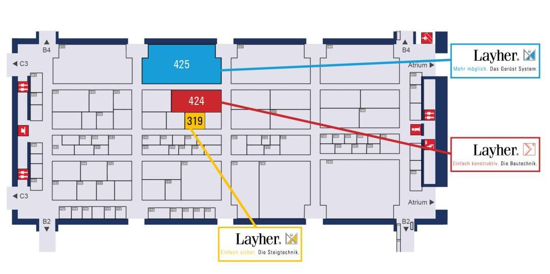 Ubicación de Layher en Bauma 2019