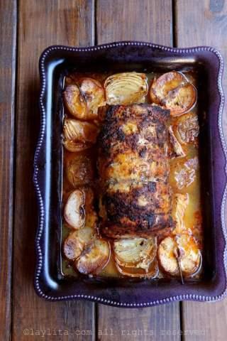 Porc rôti et ses pommes