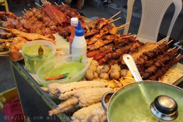 Comida callejera en Loja