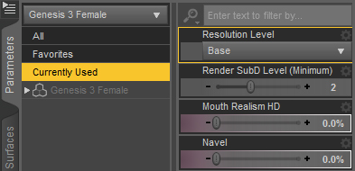 Daz Studio Export G3 Parameters Settings