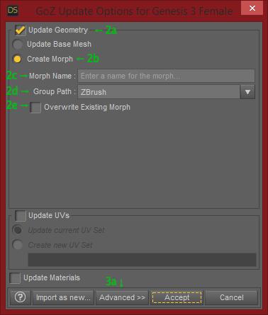 GoZ Morph Loader Pro Basic Settings
