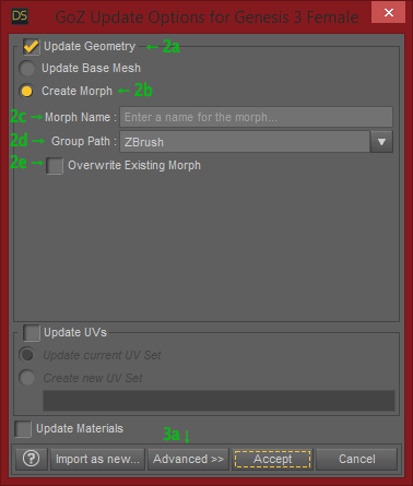 GoZ Morph Loader Pro Basic Settings