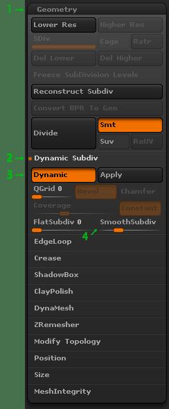 ZBrush Dynamic Subdiv
