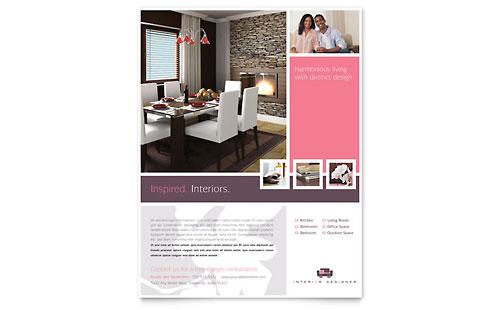 Interior Designer Postcard Template Word Amp Publisher