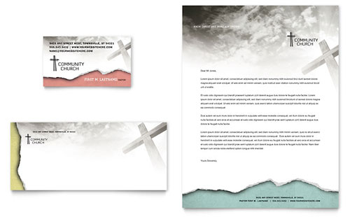 Church Letterhead Templates Word Amp Publisher