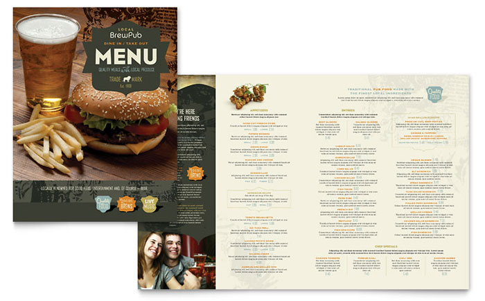Word Menu Templates free restaurant menu template word publisher – Word Restaurant Menu Template