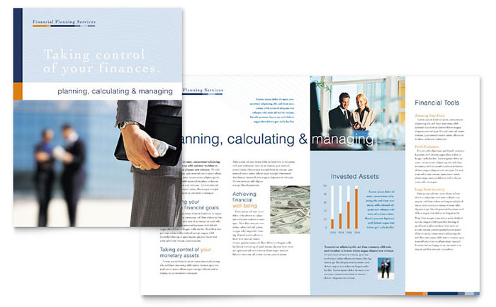 Financial Planning   Consulting Brochure Template   Word   Publisher