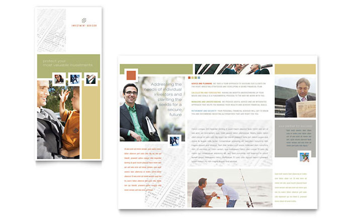 Investment Advisor Brochure Template Word Amp Publisher