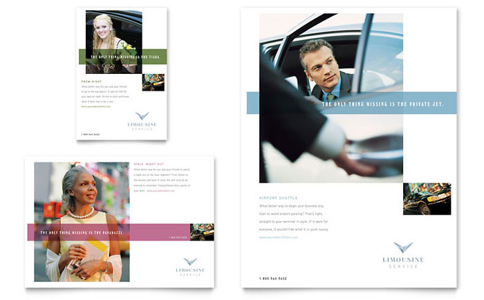 Limousine Service Flyer Amp Ad Template Word Amp Publisher