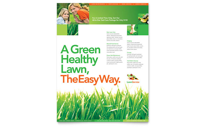 Lawn Maintenance Flyer Template Word Publisher