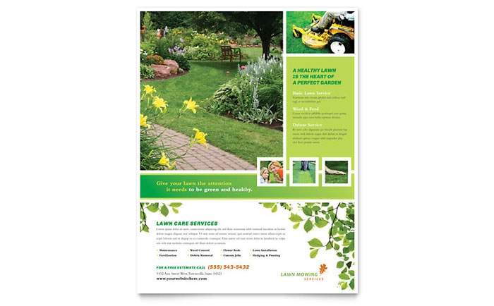 Lawn Mowing Service Flyer Template Word Publisher