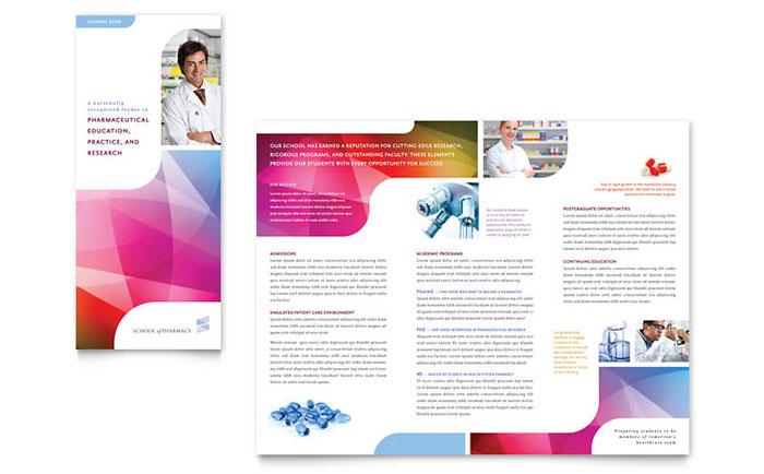 Pharmacy School Tri Fold Brochure Template Word Publisher