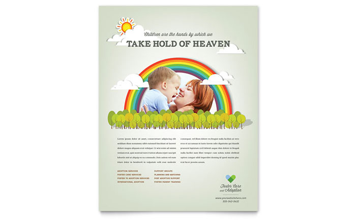 Foster Care Amp Adoption Flyer Template Word Amp Publisher