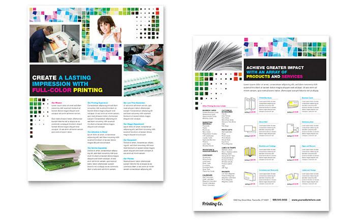 Printing Company Datasheet Template Word Amp Publisher