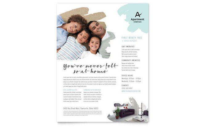 Apartment Flyer Template Word Publisher