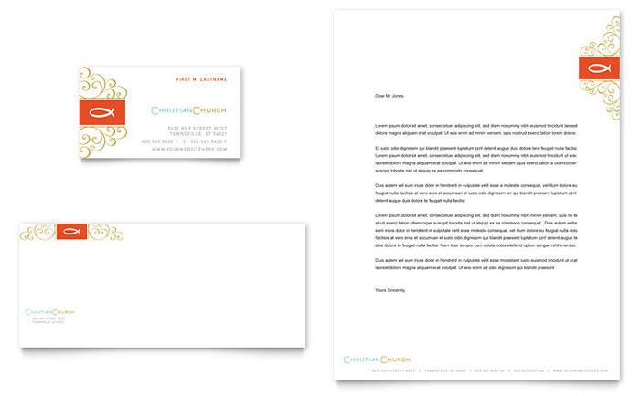 Christian Church Religious Business Card Letterhead
