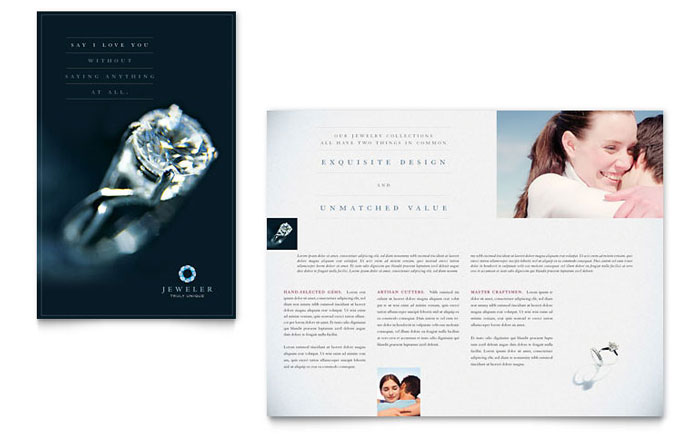 Jeweler Amp Jewelry Store Brochure Template Word Amp Publisher