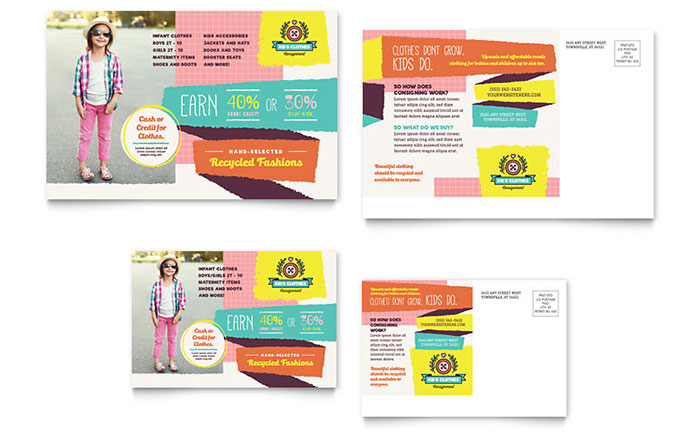 Kids Consignment Shop Postcard Template Word Amp Publisher
