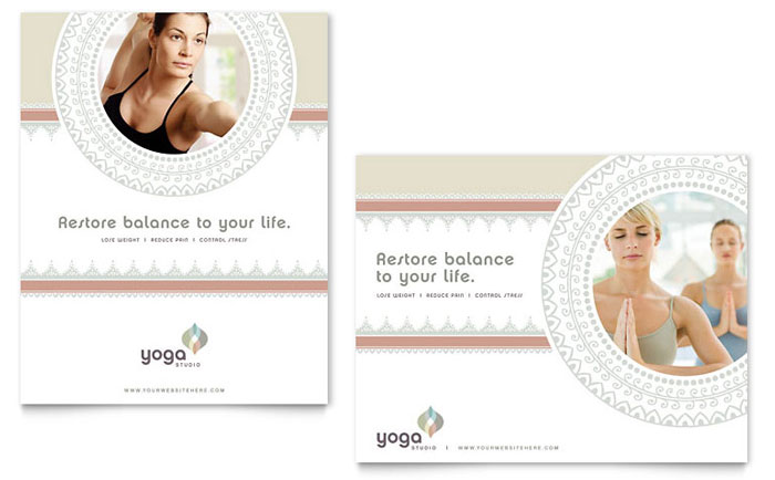 Pilates Yoga Poster Template Word Publisher