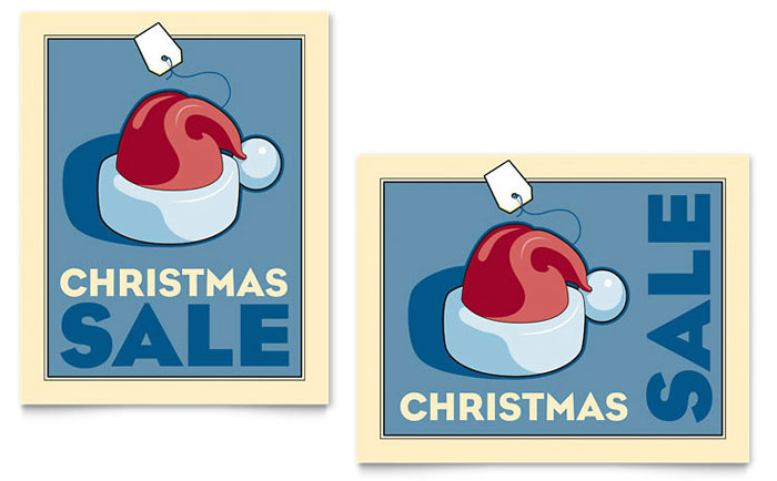 Christmas Santa Sale Poster Template Word Amp Publisher