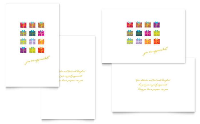 Word Template Greeting Microsoft Card
