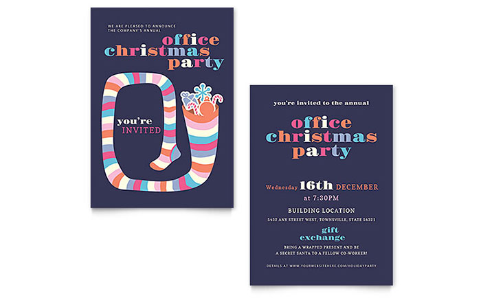 Christmas Party Invitation Template Word Amp Publisher