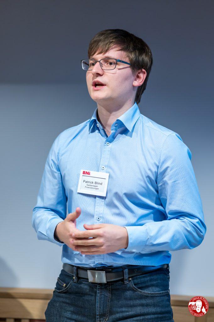 Patrick Blind, RKB Finanz, im BNI-Chapter Trollinger Heilbronn