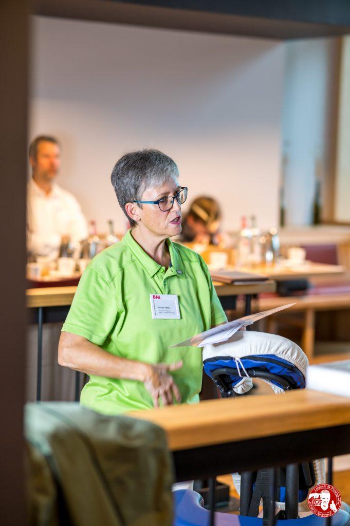 Susanne Müller bei ihrer Hauptpräsentation