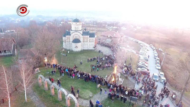 Бадње вече у Храму Светог кнеза Лазара на брду Љубићу (ВИДЕО)