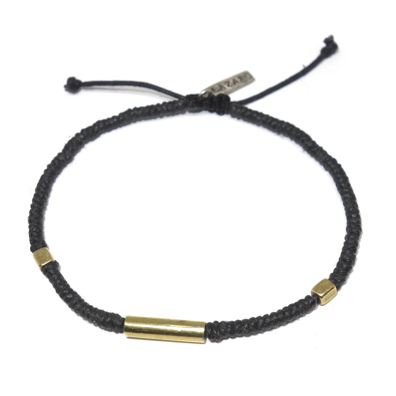 Woven Hemp Amp Brass Bead Bracelet