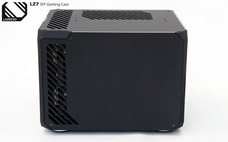 The main design has been kept the same with slotted exhaust vents for the GPU, matte panels and chamfered corners.