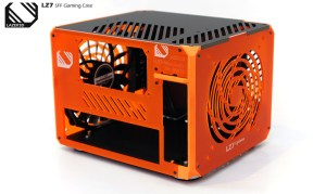 The Mandarin orange panels are continued around the rear of the case
