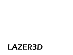 Lazer3D Website Banner Logo - White x250