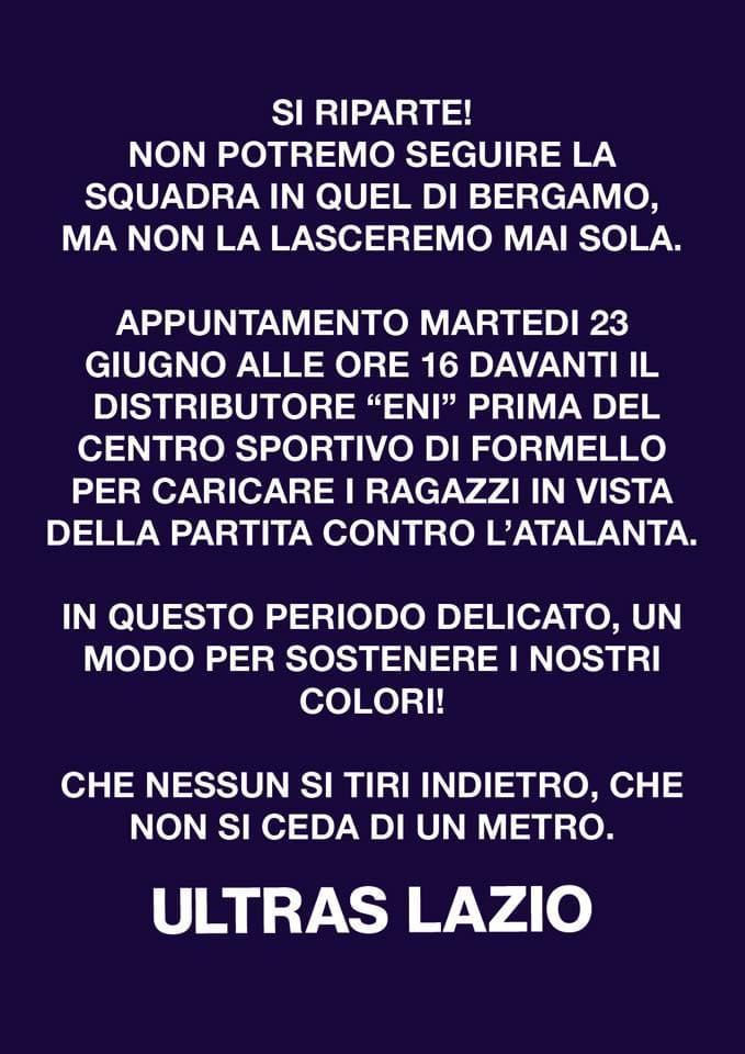 Tifosi Atalanta-Lazio