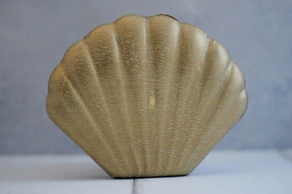 vintage shell compact bag