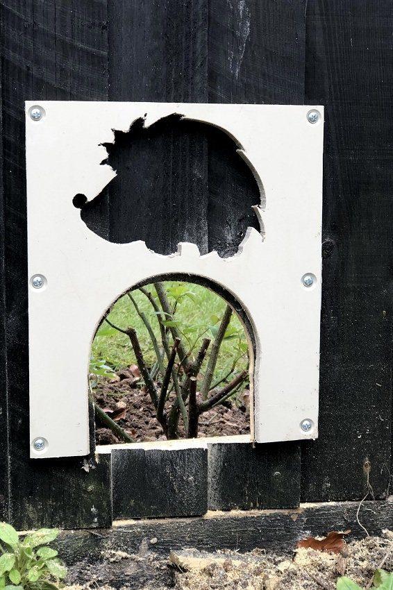 A new hedgehog entrance for february 2020