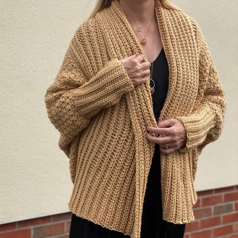 chunky handmade crochet cardigan