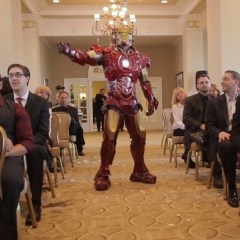 This couple fought their way through ninjas, Iron Man and Batman in order to be wed