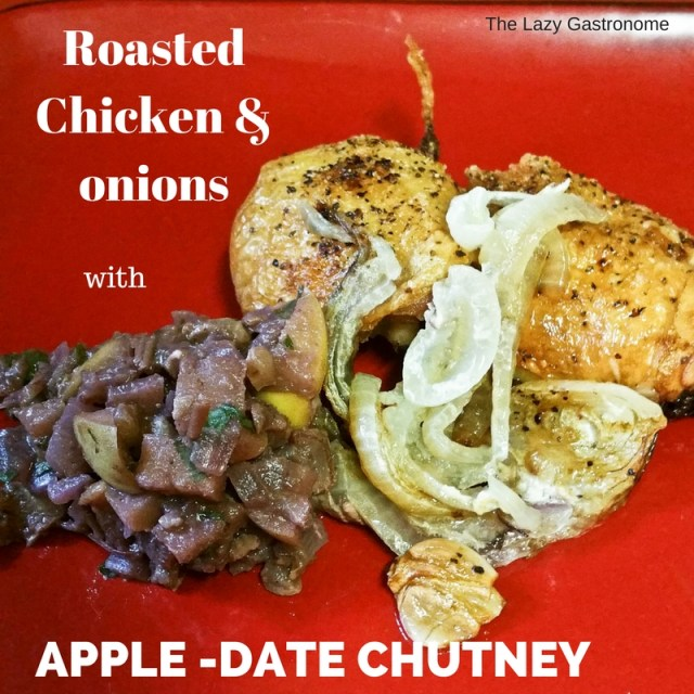 chicken & apple-date chutney