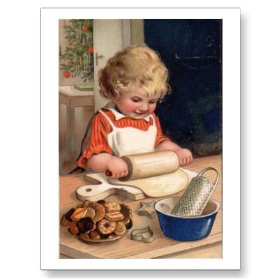 vintage_christmas_girl_baking_cookies_postcard-p239209788250867033z85wg_400