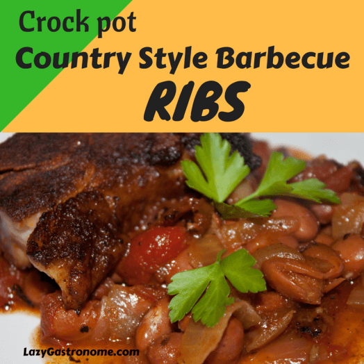 Ribs!  We love those tender, smoky barbecue foods at our house, but who has time?  Here's a recipe you put in the crock pot in the morning - give it a quick broil when it's time to eat - and it's Slow Cooked Goodness!