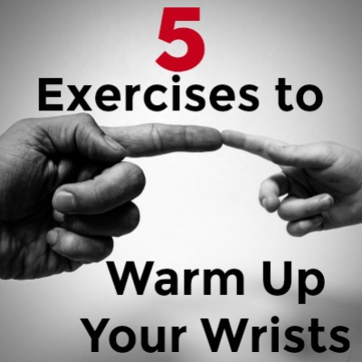 5 hand exercises to warm up your wrists. Must know if you have carpal tunnel or other wrist injuries!