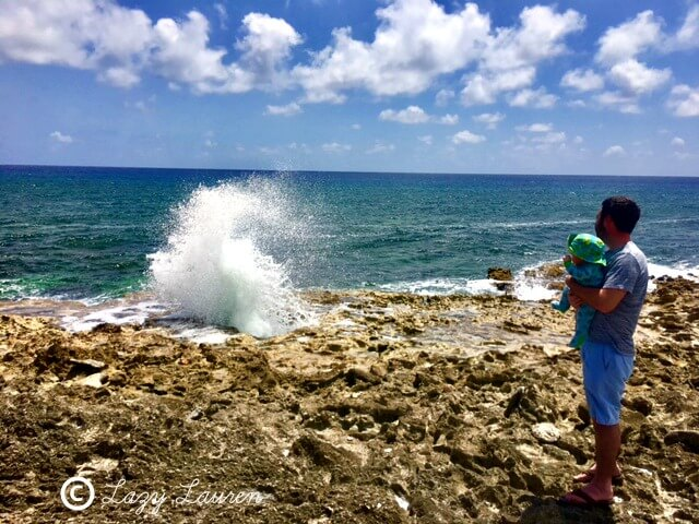 Grand Cayman with a baby